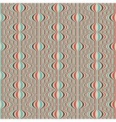 striped retro wallpaper vector image