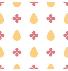 symmetric seamless pattern with eggs and flowers vector image