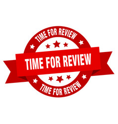 time for review ribbon time for review round red vector image