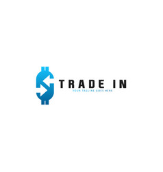 trade logo template business logo concept vector image