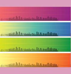 vancouver multiple color gradient skyline banner vector image