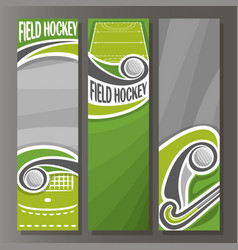 Vertical banners for field hockey vector
