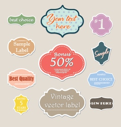 Vintage label set for web vector