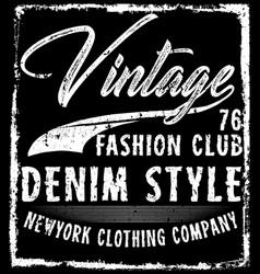 vintage man t shirt graphic design vector image