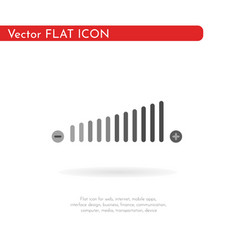 Volume adjustment icon for web business vector