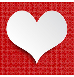 white heart red piece puzzle valentine love vector image