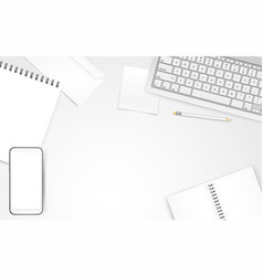 white objects on white table different business vector image