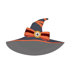 Witchs hat with orange ribbons and bobby pin vector