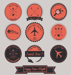 Airplane Label Design vector image
