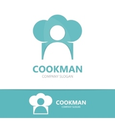 chef and cooking logo design template vector image vector image