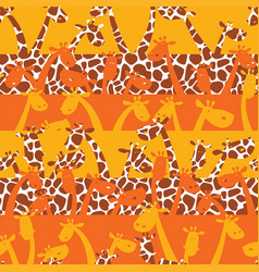 cute giraffes with skin texture vector image vector image