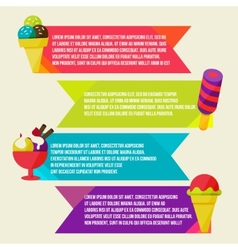 Decorative ice cream paper banners set vector image