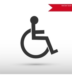 Disabled icon Flat design style vector image