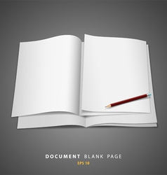 document blank white page and pencil vector image vector image