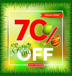 easter egg sale banner background template 6 vector image