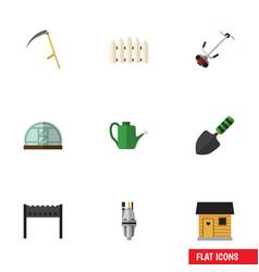 Flat icon dacha set of cutter grass-cutter vector