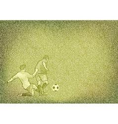 football texture grain green vector image vector image