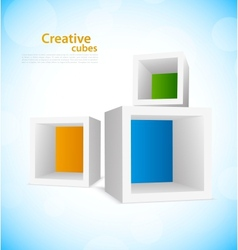 Background with cubes vector image vector image
