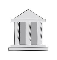 building bank financial money vector image