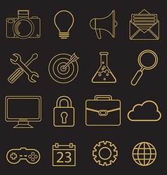 set of linear icons in trendy style - tools and vector image vector image
