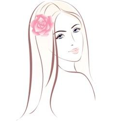 woman face female portrait vector image vector image