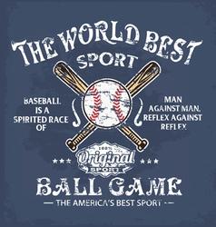baseball world sport vector image vector image