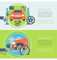 car service flat icons Concepts for web banners vector image vector image