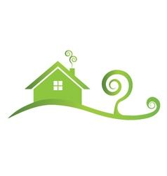 Green house icon logo vector image vector image