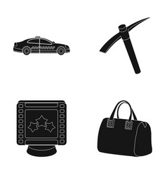maintenance premium and other web icon in black vector image vector image
