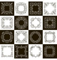 set of calligraphic vintage frames vector image vector image