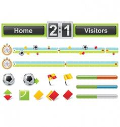 vector soccer match timeline w vector image vector image