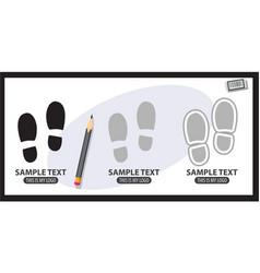 footprints logo vector image
