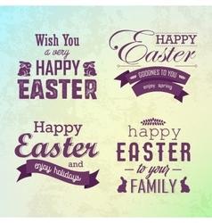 Happy Easter labels set vector image vector image
