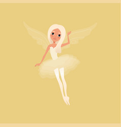 lovely blond girl with big shiny eyes and magic vector image vector image