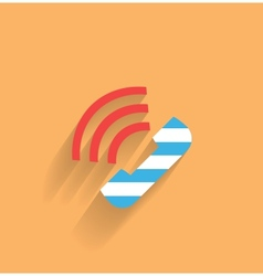 phone flat icon vector image