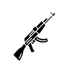 Akm weapon glyph icon virtual video game firearm vector