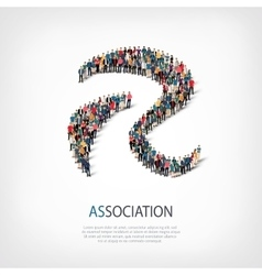 Association people sign 3d vector