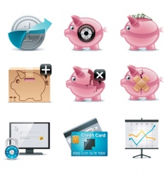 Banking icons part 1 vector