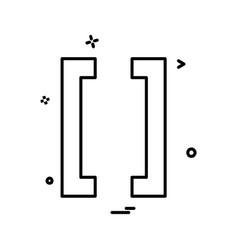 braces icon design vector image