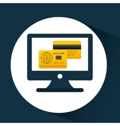 Business financial credit card online icon vector