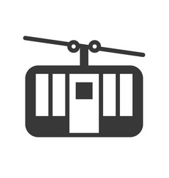 cable car icon amusement park related solid style vector image