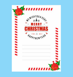 christmas invitation envelope stylish vector image