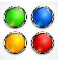 Color circles on white vector image