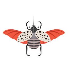 Colorful hercules rhinoceros beetle flat icon vector