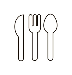 Contour set collection cutlery icon flat vector