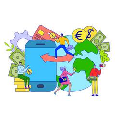 Currency exchange concept money transaction vector
