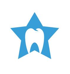 dental clinic logo star tooth vector image