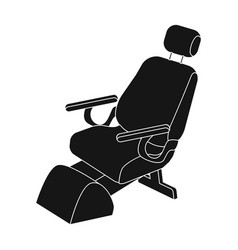Dentist chair medicine single icon in black style vector