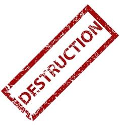Destruction rubber stamp vector