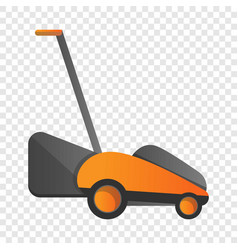 Electric grass cutter icon cartoon style vector